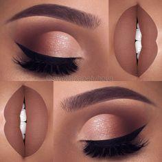 Dramatic Eye Makeup, Eye Makeup Art, Cute Makeup, Glam Makeup, Gorgeous Makeup, Skin Makeup, Eyeshadow Makeup, Shimmer Eyeshadow, Makeup Emoji