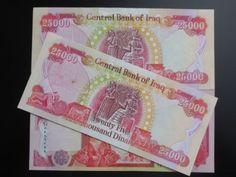 25 000 Iraqi Dinar Uncirculated Cris
