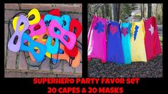 20 Superhero Capes and 20 Masks Superhero Party by littleshepsters