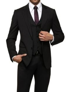 Christian's 3-piece Armani suit for the wedding. Ch.18