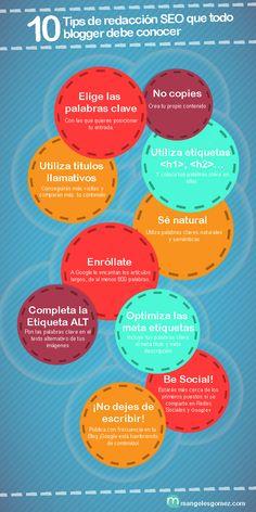 Execelente infografía sobre la redacción de contenidos optimizados para beneficiar el SEO de nuestra página.  www.develmedia.es