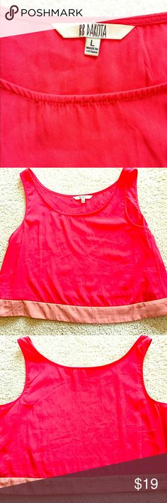 BB DAKOTA Satin Two-Tone Red Crop Top Great For Summer Outings!🌻 This Silky Buttery SOFT Adorable Crop Top is Festival Ready 🎡 Lightweight and Comfy! Perfect for Summer Fun! Size is Lg. but can Also Fit a Med. Shown Paired with American Flag Shorts (Also for Sale in my Closet) Look AMAZING Together! Buy Both and get my Bundle Discount! 👍🏼🎈 BB Dakota Tops Crop Tops