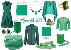 #pantone #emerald #green #fashion