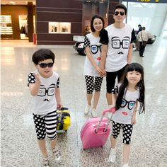 Wholesale Family Dress Alikes - Buy SG488-Summer Boys Girls Clothing Family Sets Clothes For Mother And Daughter Son Father, $26.76 | DHgate