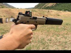 FN FNP 45 Tactical, Silencerco Osprey Suppressor, Trijicon RMR Wet vs Dry Suppressor Test - YouTube