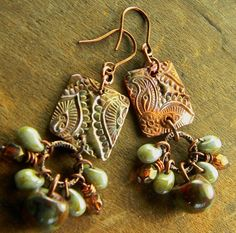 Clay pendant earrings.