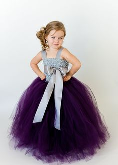 Lulu Flower Girl Tutu Dress with Liner and by TheLittlePeaBoutique, $112.00