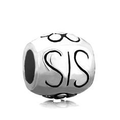 Sis Barrel Flower Bead Gifts For Sister Pandora Chamilia Compatible | Charmsstory.com