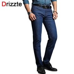 Drizzte Men's Jeans Classic Stretch Blue Denim Business Dress Slim Jeans Size 30 32 34 35. Item Type: JeansGender: MenMaterial: Denim,Spandex,CottonClosure Type: Zipper FlyThickness: MidweightModel Number: 15Fabric Type: SoftenerFit Type: SlimLength: Full LengthPattern Type: SolidDecoration: PocketsWaist Type: MidJeans Style: StraightBrand Name: DrizzteWash: Lightsize: 28 29 30 31 32 33 34 35 36 38style: mens fashion business stretch denim jeans trousers pants