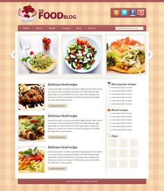 CREATE A FOOD BLOG LAYOUT IN PHOTOSHOP [Heat in the Heartland]
