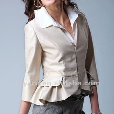 las mujeres elegantes formales blusas blancas-Blusas Mujer-Identificación del producto:556034583-spanish.alibaba.com