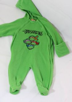 3e8476a2d89 Baby Boys Teenage Mutant Ninja Turtles Hooded Fleece One Piece 6-9 Months