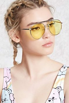 Tinted Aviator Sunglasses  $7.90