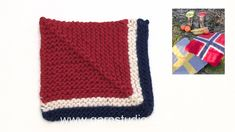How to knit domino square for the seating pad in DROPS Extra 0-1360