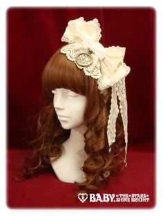 アリスの時計リボンカチューシャ  ALICE'S clock ribbon head bow  6300 yen