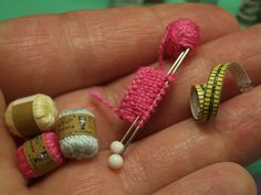 Inspiration for DIY miniature knitting needles