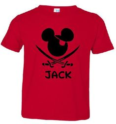 Pirate Mickey T-shirt for the Family Infants - Adult  Boys Gilrs Men on Etsy, $16.75