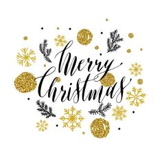 クリスマスのためのキラキラスタイルのレタリング 無料ベクター
