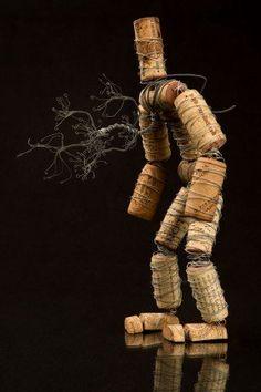 The Corkmen - wine cork sculpture