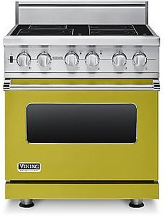 Viking VISC5304BWS 30 Inch Pro-Style Induction Range with 4 MagneQuick Elements, 4.7 cu. ft. Vari-Speed Dual Flow Convection Oven, Self-Clean, Infrared Broiler and Rapid Ready Preheat: Wasabi