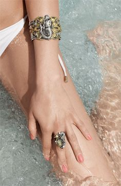 Mermaid Cuff and Ring from Mars & Valentine - NYC.  www.gildedlilyjewelry.com