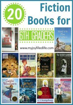 20 Fiction Books for Graders - My Joy-Filled Life 6th Grade Reading, 6th Grade Ela, Sixth Grade, Kids Reading, Teaching Reading, Reading Lists, Good Books, Books To Read, Children's Books