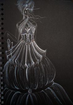 #fashion #moda #fashiondesign #corset #dress #black #white #black&white #design #fashiondesigner #designer #style #look  #art