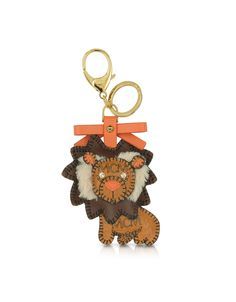 MCM Color Visetos - Lion Charm Keyring | FORZIERI