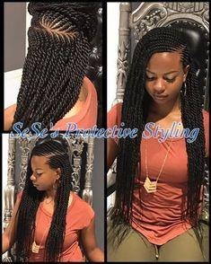 """Résultat de recherche d'images pour """"ghana braids ponytail"""" #blackhairstylesbraids"""