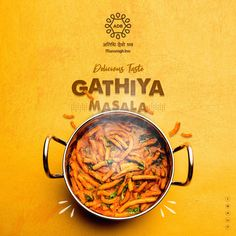 Delicious Taste of Gathiya Masala . Food Graphic Design, Food Poster Design, Event Poster Design, Creative Poster Design, Ads Creative, Creative Posters, Creative Advertising, Menu Design, Graphic Design Posters
