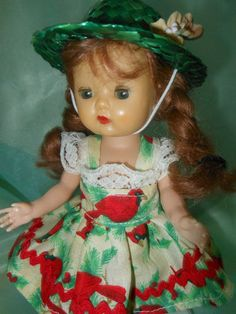 Dress and vintage hat for Ginny, Muffy dolls on my ebay