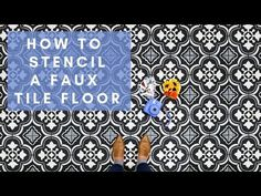 Our tile stencils are perfect for walls, kitchen backsplashes or tile floors. Our tile stencil designs are super easy to use and provide huge savings to costly alternatives of wallpaper and floor tiles. Large Stencils, Tile Stencils, Stencil Painting, Stencil Designs, Stencil Walls, Stenciled Tile Floor, Cutting Edge Stencils, Types Of Flooring, Used Vinyl