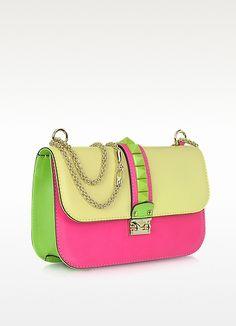 Valentino Garavani Pop Rockstud Multicolor Calfskin Shoulder Bag Forzieri Bago