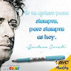 Yo te quiero para siempre #LaDiferenciaEsElColor #BICMarking #Cerati