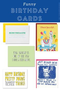 We've got happy birthday cards for boys and girls! These funny cards are sure to brighten up any birthday. Birthday Cards For Boys, Funny Birthday Cards, It's Your Birthday, Funny Cards For Friends, Funny Greeting Cards, Get Happy, A Funny, Boy Or Girl, Birthdays