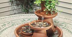 Pravo je vreme da uredimo svoje dvorište. Napravite mini fontanu. #diy #fountan #idea #garden #yard #mini #uradisam #decorating #mojrucnirad