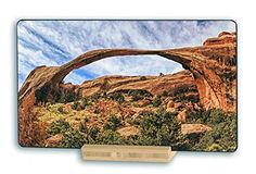 Landscape Arch, Arches National Park, Utah, USA - Original Photography Metal Art Print Gift with Bamboo Stand for Office Desk Art or Home Table Art Display Utah Usa, Art Desk, Poster Prints, Art Prints, Arches, Metal Art, Monument Valley, Office Desk, Bamboo