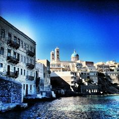"""See 525 photos and 30 tips from 4410 visitors to Σύρος (Syros). """"Syros is one of the few places in the whole world,where Catholic and Orthodox. Syros Greece, Greece Travel, Greek Islands, Travelling, Villa, Adventure, Mansions, House Styles, City"""