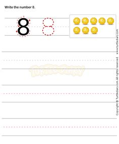 Number Writing Worksheet 8 - math Worksheets - preschool Worksheets