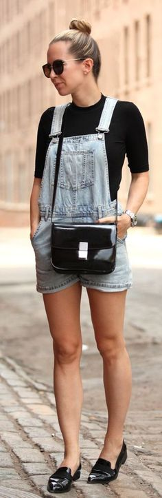 Washed Denim Overall Styling by Brooklyn Blonde