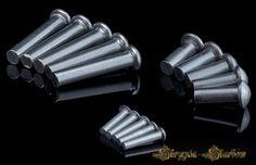 Nity aluminiowe - łeb kulisty - 4/20 mm - 25 sztuk