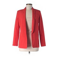 Pre-owned ASOS Blazer (125 BRL) ❤ liked on Polyvore featuring outerwear, jackets, blazers, orange, blazer jacket, red blazer, orange jacket, red blazer jacket and orange blazer jacket