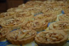 tart with North Carolina apples spiced with cinnamon and almonds