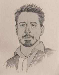 A Hallpen hero - Marvel Comics Avengers Drawings, Avengers Art, Marvel Art, Pencil Art Drawings, Art Drawings Sketches, Cool Drawings, Drawing Faces, Iron Man Kunst, Iron Man Art