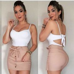 Nude Outfits, Skirt Outfits, Classy Outfits, Sexy Outfits, Stylish Outfits, Summer Outfits, Teenage Girl Outfits, Teen Fashion Outfits, Girl Fashion