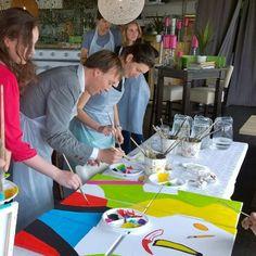 Bedrijfsuitje op het strand van Scheveningen. #bedrijfsuitje #schilderworkshop #denhaag #workshops