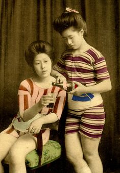 swimsuit girls of japan early 20th century