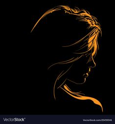 Beauty woman face silhouette in contrast Vector Image , Woman Face Silhouette, Silhouette Vector, Portrait Cartoon, Vector Portrait, Portrait Photography Men, Dark Photography, Dark Portrait, Woman Illustration, Cool Art Drawings