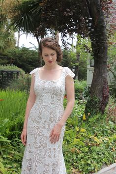 2f9cc90c9bf5 Elegant, Brussels Lace Wedding Dress, suitable for any age!  www.seabreezebridalboutique.