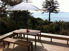 Omana Beach Holiday Home accommodation. Hammonia at Omana New Zealand Holidays, New Deck, Holiday Places, Beach Holiday, Auckland, Patio, Outdoor Decor, House, Home Decor